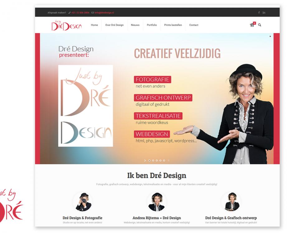 Dré Design - nieuwe website 2016