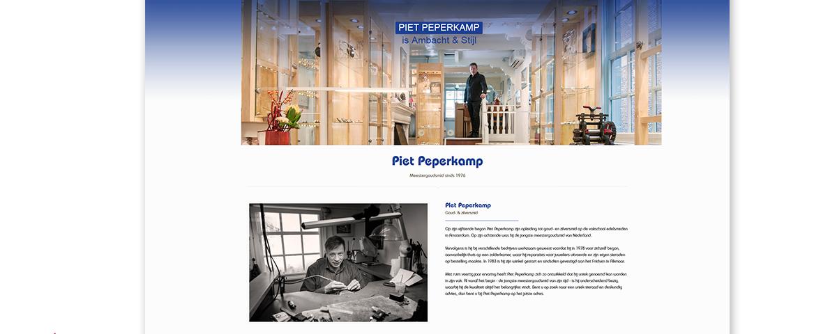Nieuwe website piet peperkamp online dredesign creatief veelzijdig in fotografie grafisch - Nieuwe home design ...