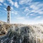 Landschapsfotografie Egmond aan Zee vuurtoren in de rijp.