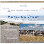 Hotel de Vassy - webdesign 2018