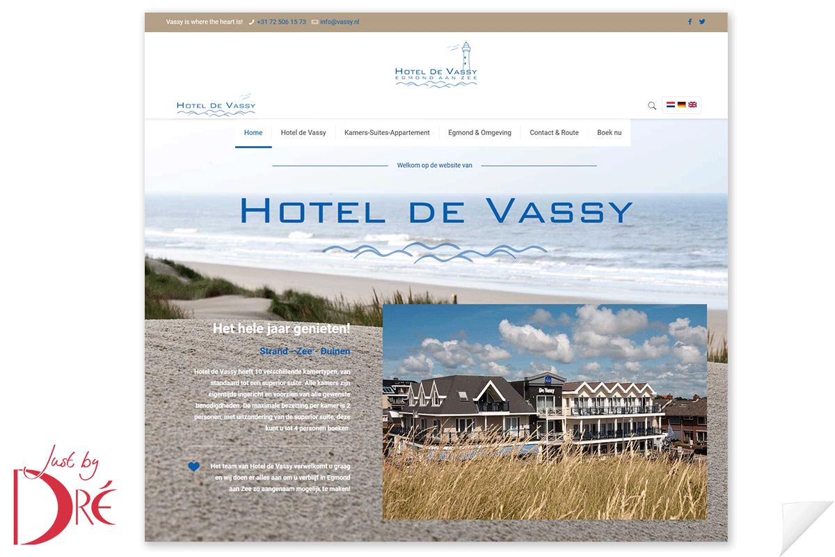 Website Hotel de Vassy
